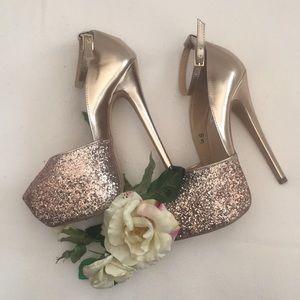 Steve Madden Rose Gold Strappy Heels 6.5